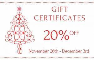 gift certificate sign